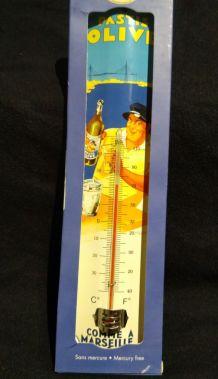 Thermomètre publicitaire pastis olive