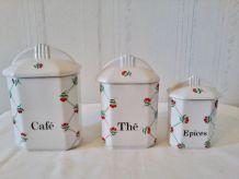 Pots en céramique de la marque torchon à carreaux ensemble d