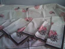 Nappe et 6 serviettes