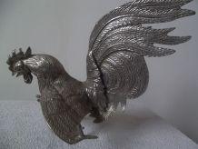 coq de combat metal argenté 1.200 kg