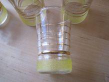 8 verres a liqueurs vin cuit 1940/50 bas sablées    hauteur