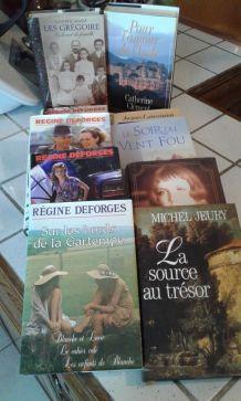 Lot de 10 romans dont trilogie bicyclette bleue