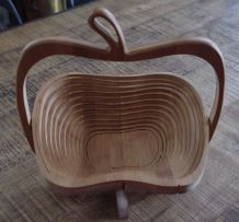 Corbeille fruit bambou forme pomme
