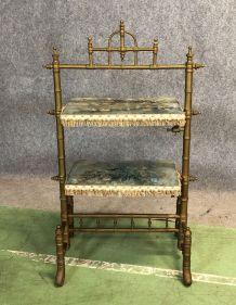 Meuble d'appoint Napoléon III fin XIXème en bois doré