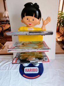 Porte revues présentoir HARIBO publicitaire