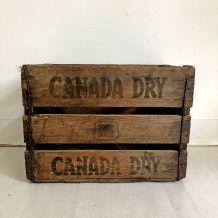 """Caisse en bois """"CANADA DRY"""" vintage"""