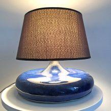 Lampe céramique bleue