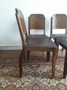 Chaises vintage art deco 1930
