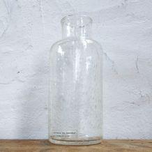 Vase bouteille en verre soufflé