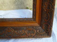 cadre ancien en bois sculpté