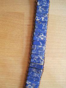 Joli bracelet pierres multicolores réglable en cordes  Neuf.