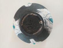 Bol raku semi émaillé design signé