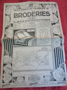 Journal broderie patron monogramme 1934
