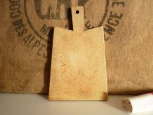 Ancienne planche, billot à découper en bois. Vintage