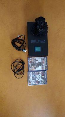Playstation 2 complète avec 2 jeux et hdd