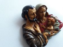 Sculpture polychrome La Sainte Famille