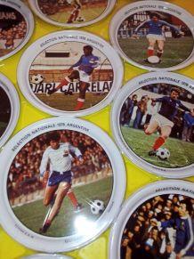 16 coupelles métaliques équipe de france 1978