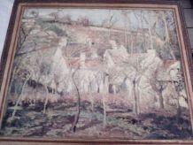 deux Peinture sur bois de pissaro