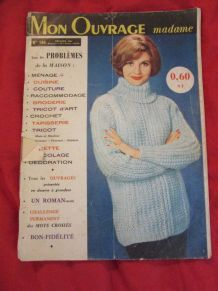 revue Mon Ouvrage madame couture tricot broderie1961
