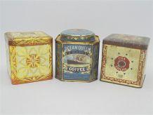 Anciennes boîtes en métal