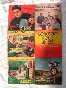 lot 6 disques 45 T- années  1960