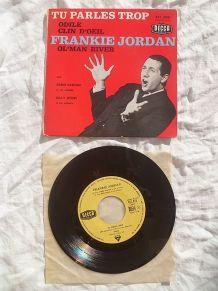 disque  45 T - frankie jordan - Tu parles trop (1961)