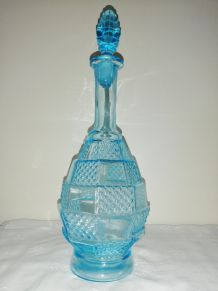 Bouteille / carafe bleue vintage