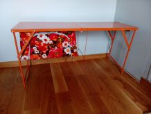 Table de camping pliante orange