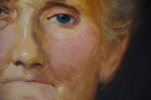 Portrait huile sur toile signé Félix Courché 1934