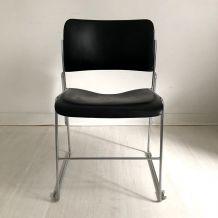 Chaise 40/4 noire par David Rowland pour General Fireproofin