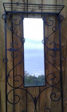 Porte-manteaux vestiaire en fer forgé