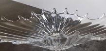 Coupe centre de table vintage en verre