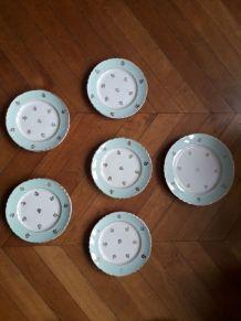6 assiettes Hermès de la faiencerie d'Orchies
