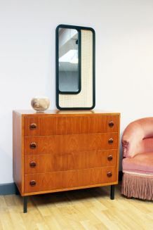 Commode vintage scandinave teck 1960's