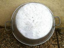 bassine  en  aluminium,  vintage