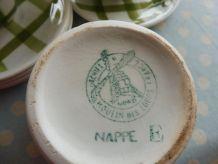 Service café vintage modèle nappe vert