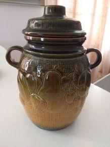 Pot couvert céramique 1970 vintage