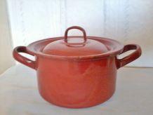 cocotte ,faitout, casserole marmite émaillée en métal (tôle)