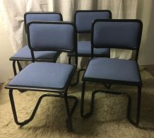 Série de 4 Chaises « cesca » B32 par Marcel Breuer