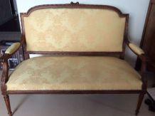 canapé et lot de fauteuils