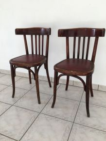 """Paire de chaises bistrot """"FISCHEL"""" 1900-1920"""