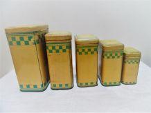 cinq  boites anciennes lustucru