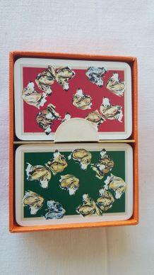 coffret 2 jeux de cartes Hermès