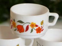 "Set de 6 tasses Arcopal ""Tulipe"""