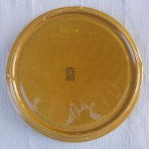 Assiettes (×12) à asperges en faïence de Gien