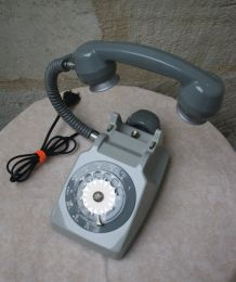 "LAMPE A POSER RECUP' VINTAGE ""TELEPHONE 7"""