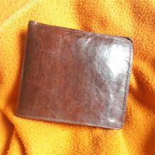 Portefeuilles homme en cuir brun