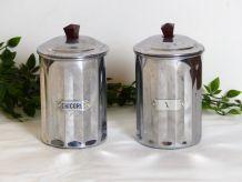 2 pots à épicerie