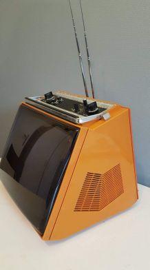 télévision française vintage orange Sonolor années 70