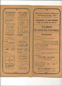 Saint-Etienne-du-Bois (01) Dépliant de Tournoi de football